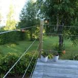 Garden Decking Wire Balustrade