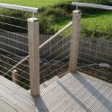 Decking Balustrade Wires on Stairs