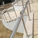 Patio Balustrade Wires on Stainless Round Posts