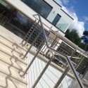 Balustrade Wires on Stainless Round Posts